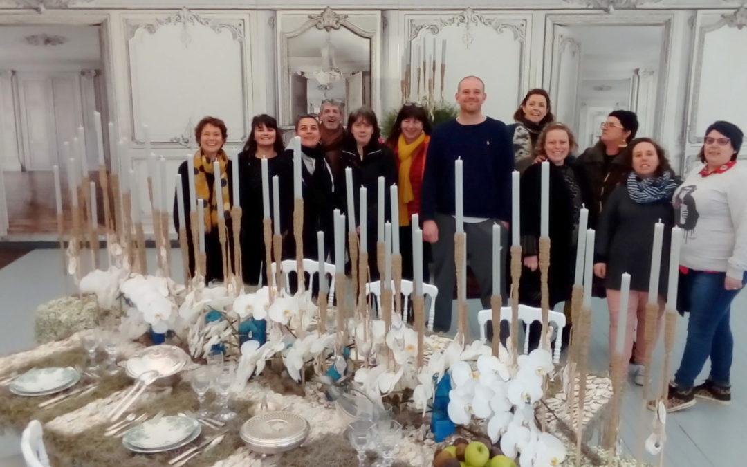 Insolite ! une table de fête en décor d'huitres et d'orchidées: 11 et 12 mars à Pléhédel(22)