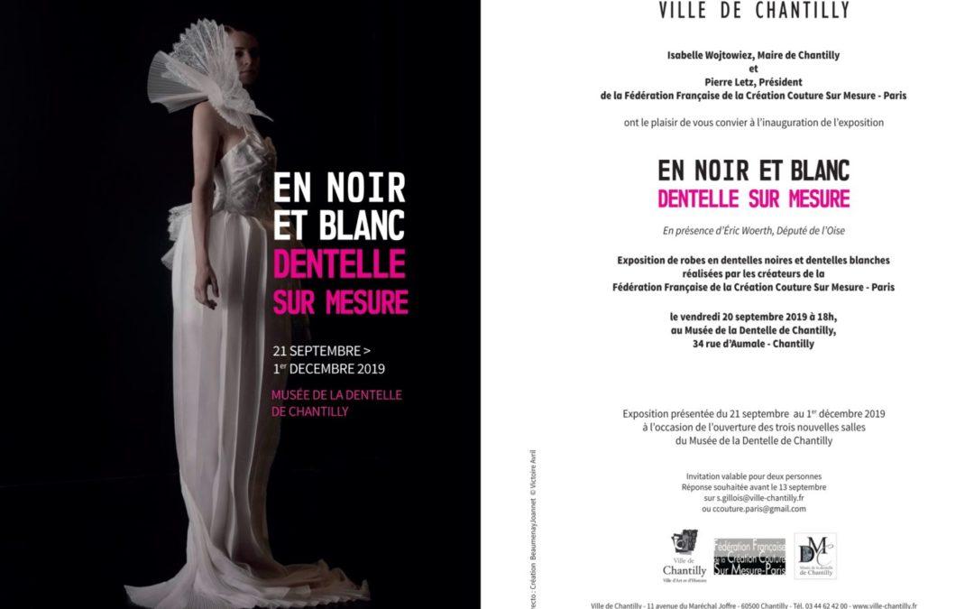 Exposition au musée de la dentelle de Chantilly jusqu'au 2 février 2020